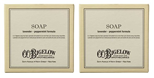 C.O. Bigelow Lavender and Peppermint Bar Soap, 3.5 Ounces (Pack of 2)