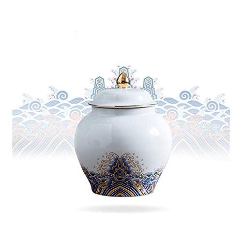 Pequeño recipiente de cocina de cerámica, frasco de almacenamiento de alimentos de cerámica, recipiente de café, frasco de almacenamiento de alimentos, para té de tienda, miel, semilla, café, azúcar,