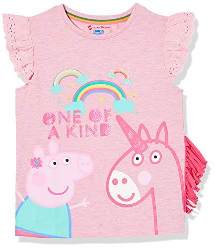 Peppa Wutz Mädchen Peppa Pig und Einhorn T-Shirt 104