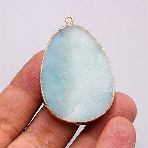ZTTT Natural Azul Amazonita Piedra Gema Colgante para Collar Pulsera Pendiente Accesorios Joyas Haciendo Piedra Colgantes Encanto