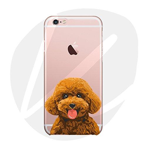 Sleeping bear)Case Cover per iPhone 7 Plus/8 Plus,Adorabile Animale Cane/Dog del Fumetto (Barboncino) del Telefono della Copertura della Caso Sottile TPU Custodia+Cordoncino-Poodle