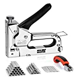 Staple Gun NEU MASTER, 3 in 1 Heavy Duty Staple Gun with Stapler Remover and 2000Pcs Staples, Manual Staple Gun for Upholstery, Fixing Material, Decoration, Carpentry, Furniture