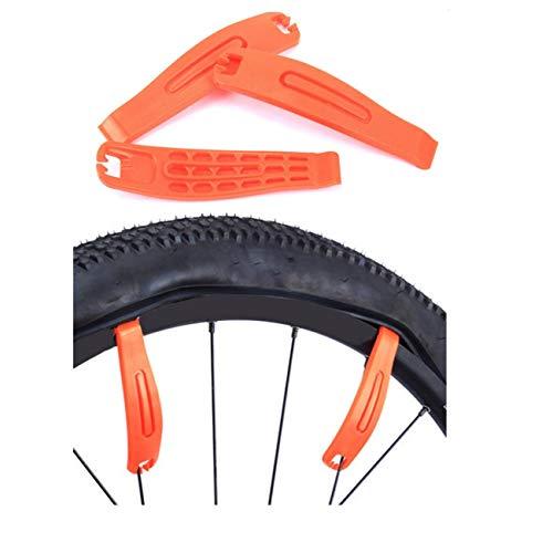 JZK 3 x Fahrradreifenhebel Premium gehärtet Nylon Kunststoff Fahrrad-Reparatur-Werkzeugsatz