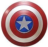 ABDOMINAL WHEEL Capitán América Shield,Avengers Juguete para Adultos/Niños 1:1,Decoración Creativa de la Pared de la Barra,Cosplay Accesorio de Disfraz Infantil A,60CM