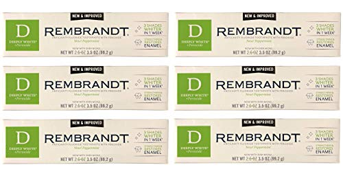 Rembrandt Anticavity Fluoride Toothpaste, Peppermint - 3.5 oz, 6 Pack