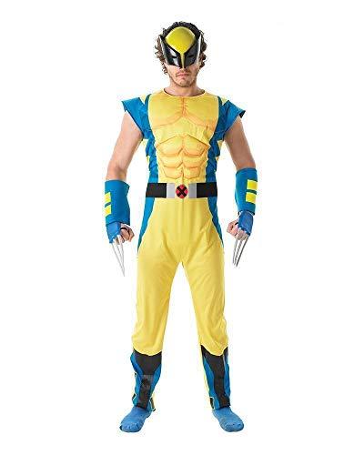 Rubie's 887397XL Disfraz oficial de Marvel Wolverine de lujo, para hombre, XL