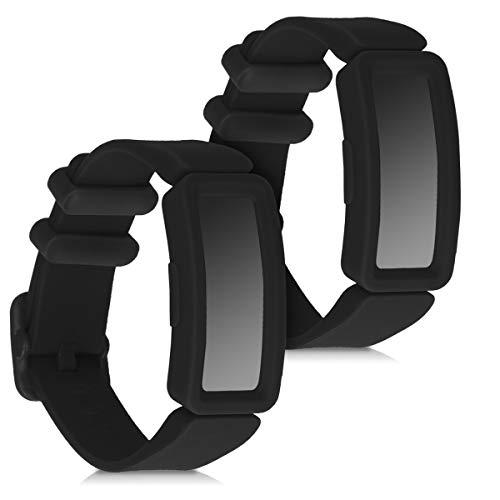kwmobile Armband kompatibel mit Fitbit Ace 2-2X Silikon Fitnesstracker Sportarmband