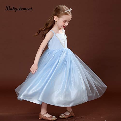 don997gfoh08yewi Meisjes jurk zomerjurk 2019 nieuwe buitenlandse kinderkleding babyjurk Aisha skirtIce blauw