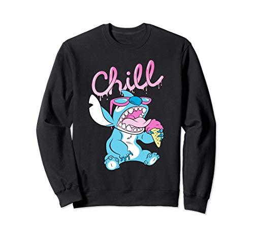 Disney Lilo and Stitch Neon Ice Cream Chill Drip Sudadera