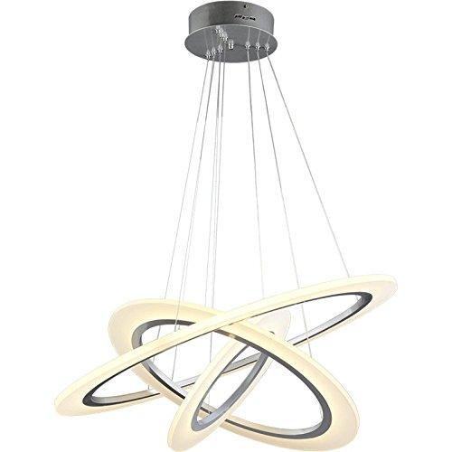 Quietness @ Ciondolo illuminazione LED moderno lampadario industrie creative Loft lampadario per sala da pranzo Camera da letto Soggiorno cerchio di magazzino -40+60+80 cm-led- bianco caldo