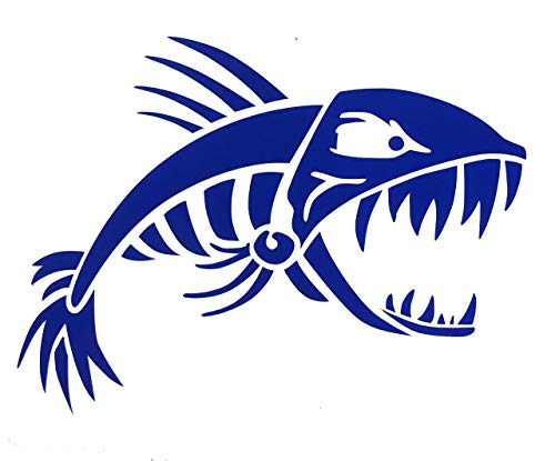 Custom Bonefish Vinyl Decal - Personalized Fishing Bumper Sticker, for Tumblers, Laptops, Car Windows, Fierce Bone Fish Design