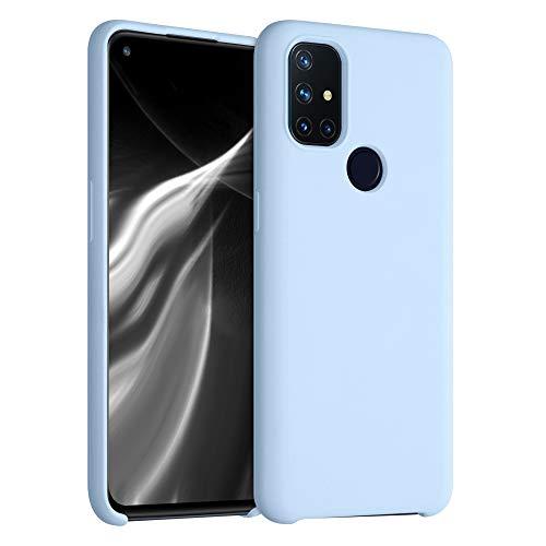 kwmobile Carcasa Compatible con OnePlus Nord N10 5G - Funda de Silicona para móvil - Cover Trasero en Azul Claro Mate