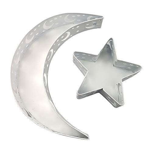 Eid Mubarak Ramadan - Bandeja de comida hecha a mano, diseño de luna y estrella