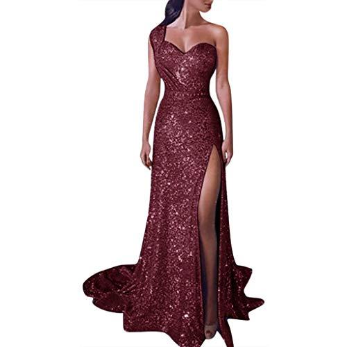 MuSheng Damen Etui Lang Meerjungfrau Off Shoulder Abendkleider Ballkleid Kleider Frauen Pailletten Prom Party Ballkleid Abend Brautjungfer...