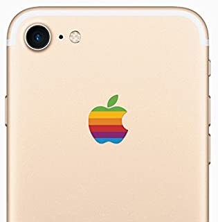 Retro Rainbow Apple iPhone 8 Decal Sticker for the iPhone 8 and iPhone 7