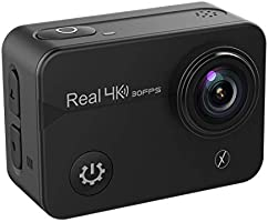 """Xmate Stunt Pro 16MP 4K@30fps Touch Screen Action Camera, 2"""" HD Display 170° Wide Lens, 40m Waterproof Case, 2.4G Remote..."""