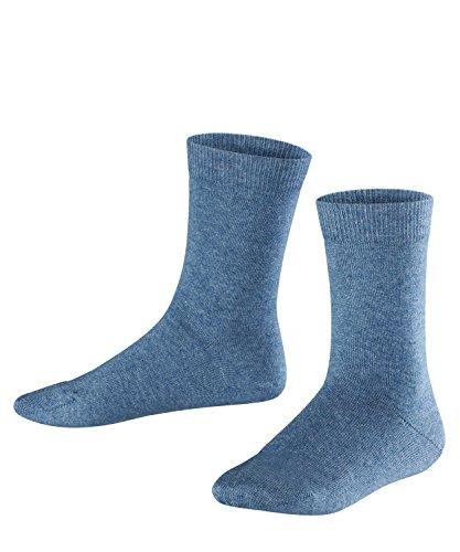 FALKE Kinder Socken Family - 94% Baumwolle, 1 Paar, Blau (Light Denim 6660), Größe: 35-38