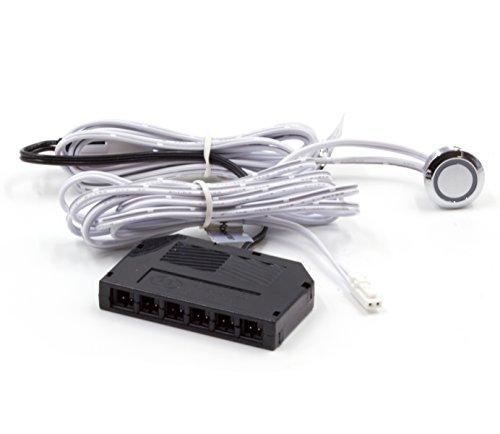 LED Touch Schalter Regler Dimmer Dimm-Funktion,12-24V DC mit 6 Fach mini Verteiller