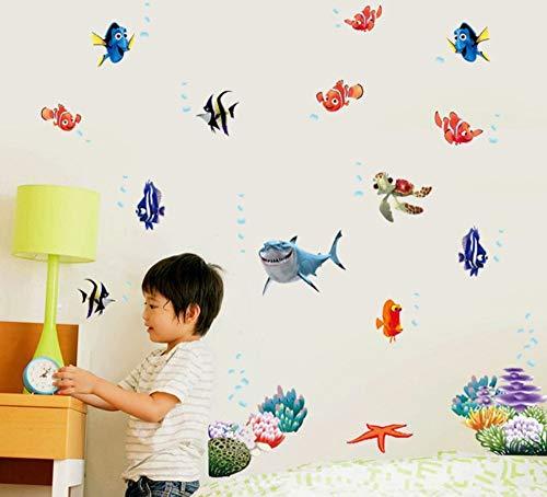 Nemo Vis Cartoon Muursticker voor Douche Tegel Stickers in De Badkamer voor Kinderen Baby Op Bad