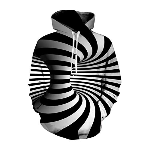 Lustige 3D Plus Size Hoodies Sweatshirt Männer Frauen Hypnose Vortex Hoodie Whirlpool Print Hip Hop Anzug Street, 1, XXXL