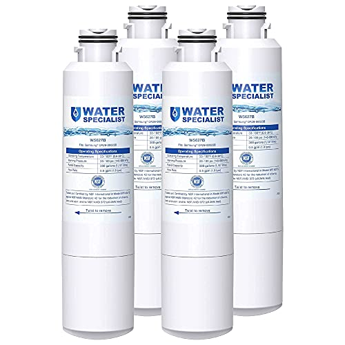 Waterspecialist DA29-00020B Refrigerator Water Filter, Replacement for Samsung DA29-00020A/B, HAF-CIN/EXP, DA29-00020B-1, RF25HMEDBSR, RF28HMEDBSR, RS25J500DSR&More Models, 4 Carbon Filters