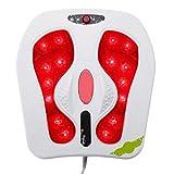 YLYHK Relax masajeador de pies, eléctrico del pie del Masaje, vibración Inicio masajeador de pies para el hogar relajación del Balneario Masaje Cojín, Blanco