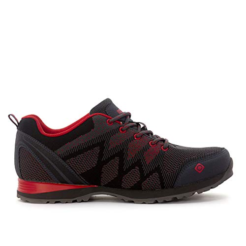 Chaussures Multi-activités Hailey Izas (Smoke/Black/Red, 46)