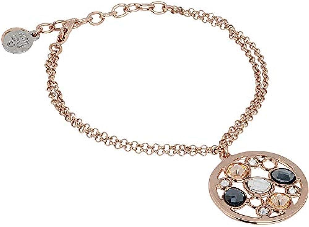 Boccadamo, bracciale doppio filo in bronzo placcato oro rosa per donna Xbr730Rs