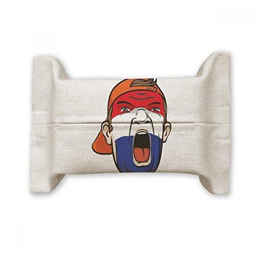 DIYthinker Nederland Vlag Facial Make-up Masker schreeuwen Cap Katoen Linnen Tissue Papier Cover Houder Opslag Container Gift