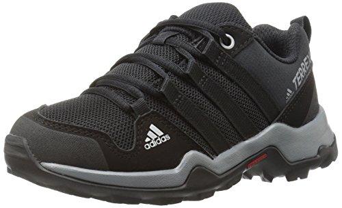 adidas outdoor Terrex AX2R Lace-up Shoe, Black/Vista Grey, 6 M US Big Kid