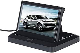 BW 5.0'Faltbarer Digital HD 800 * 480 TFT LCD Auto hintere Ansicht Unterstützungsüberwachung für Auto Rückfahrkamera, Auto Rearview Camara, CCTV Kamera DVD