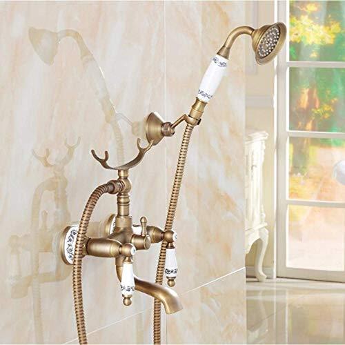 Zixin Ceramic Art Hand Badewanne Wasserhahn Set der Wand befestigten Bad-Dusche-Hahn-Set Badezimmer-Wanne-Mischer-Hahn