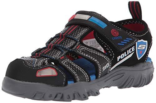 Skechers - Boys Damager Iii Sandal-Sand Patro Shoe, Size: 12 M US Little Kid, Color: Black/Red/Blue