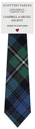 I Luv Ltd Garçon Tout Cravate en Laine Tissé et Fabriqué en Ecosse à Campbell of Argyll Ancient Tartan