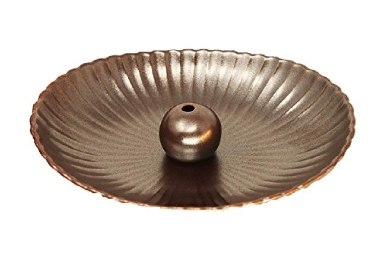 サロン頭痛うぬぼれた鉄器色 楕円皿 日本製 製造?直売 お香立て お香たて 陶器 少し深めな香皿