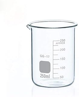 BIGHONG Glass Utensils مجموعة دورق الزجاج للمختبرات الكيمياء واضحة مقياس مختبر كبار البورسيليكات زجاجي مقاومة للحرارة (حزم...