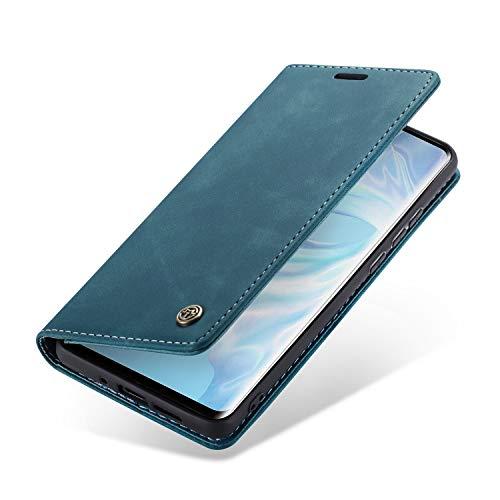 Handyhülle, Premium Leder Flip Schutzhülle Schlanke Brieftasche Hülle Flip Case Handytasche Lederhülle mit Kartenfach Etui Tasche Cover für Huawei