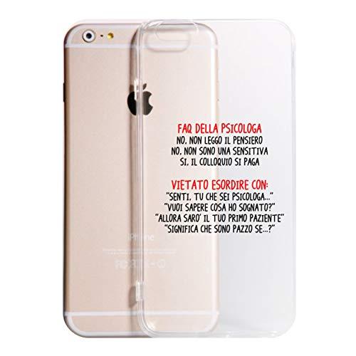 Vestin Cover Compatibile per Tutti i Modelli iPhone -FAQ della psicologa- Trasparente UltraSottili AntiGraffio Antiurto Case Custodia (iPhone 6, Trasparente)