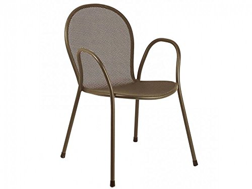 Emu–Arms CHAIR 'Round', Stackable, Steel, For garden outdoor