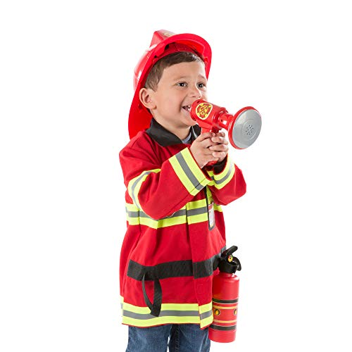 Melissa & Doug Fire Chief Role Play Costume Set (Pretend Play, Bright Red, 6...