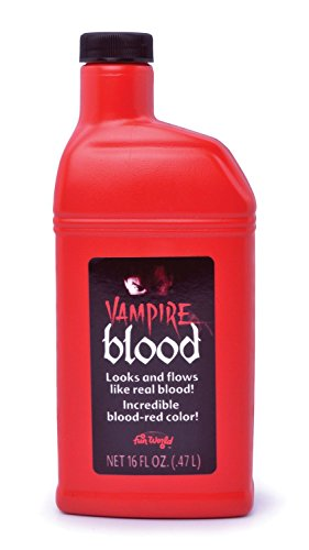 Bottle of Fake Blood 0.5L Halloween Face & Body Kit Dracula Vampire Fancy Dress (Maquillaje/ Pintura de Cara)