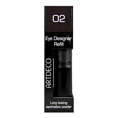 Artdeco Eye Designer Refill, Lidschatten, Nachfüllung, 02, dark silver grey, 1er Pack (1 x 9 g)