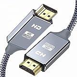 HDMIケーブル 2m ハイスピード HDMI CABLE【2m*2本セット】最新 HDMI規格 Ver2.0 HDMI-HDMI ケーブル1080p 3D 4K スーパースリム グレー