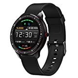 DoSmarter Smart Fitness Watch, 1.3' Touchscreen Waterproof Fitness Tracker with Heart Rate Blood Pressure Monitor, Sleep Tracking, Pedometer, Calories Counter GPS Activity Tracker for Women Men Kids