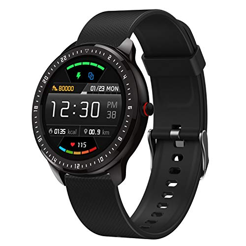 """DoSmarter Smart Fitness Watch, 1.3"""" Touchscreen Waterproof Fitness Tracker with Heart Rate Blood Pressure Monitor, Sleep Tracking, Pedometer, Calories Counter GPS Activity Tracker for Women Men Kids"""
