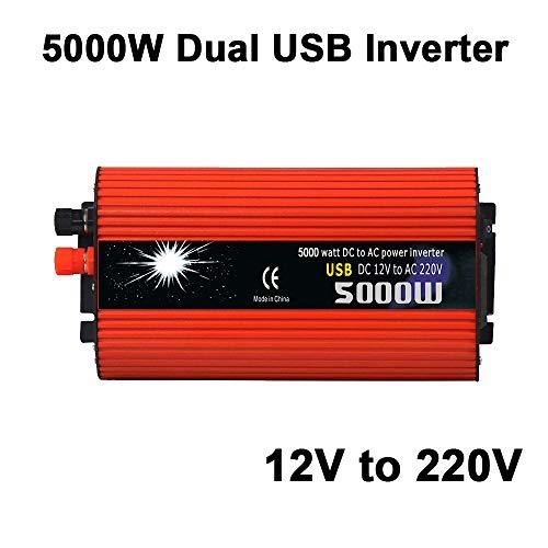 ZZH Inverter per Auto, ad Alte Prestazioni 5000 W Peak DC12V per trasformatore Frigorifero AC220V