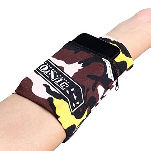 Kohyum Funda para teléfono móvil correr soporte para teléfono móvil brazalete deportivo bolsillo para smartphone para el antebrazo bolsillo para el brazo bolso de muñeca