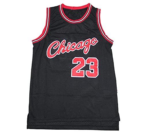 KSDF Jordan 23# Camiseta de Baloncesto, Chaleco Deportivo para Hombres Retro Baloncesto Swingman Edition Mess Jersey (S-XXL) Black-XL