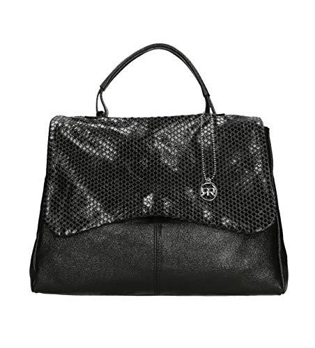 Roberta Rossi Bag Handgefertigte Donna Made in Italy echtes Leder bedrucktes Laminat Griff Leder Made in Italy RR00545FBNOL_P
