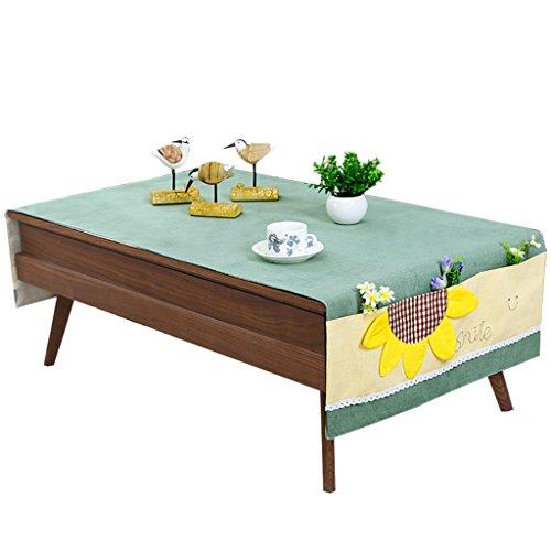 RenShiMinShop Eenvoudige en kleine verse opslag tafelkleden, geborduurde salontafel TV kast tafel sets